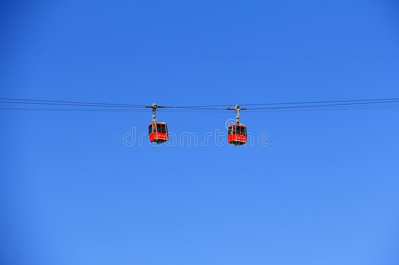 Cable car V stock images