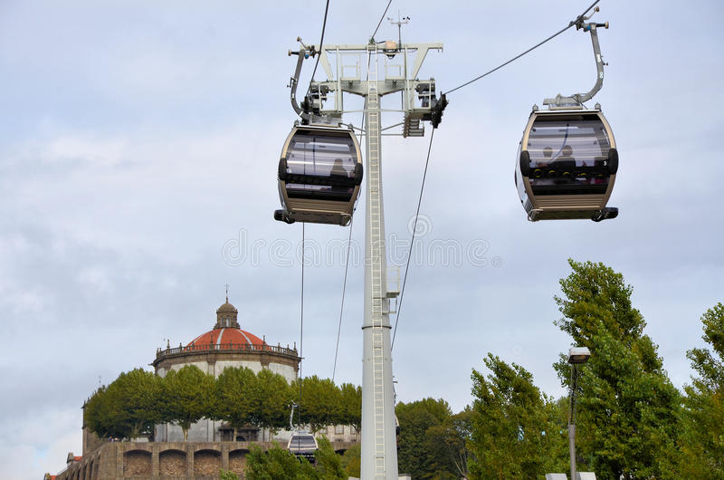 Cable cars stock photography