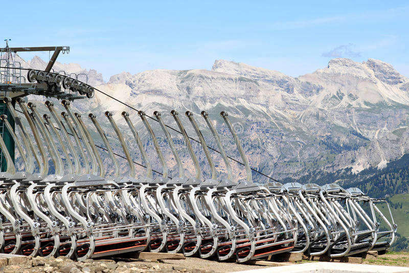 Download Cable Cars Upon The Col Rodella, Italian Dolomites Stock Photo - Image: 12502404