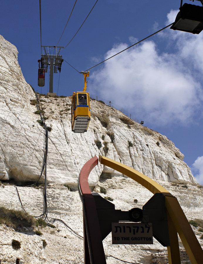 Download Cable Cars at Grotto stock photo. Image of ascending, cliff - 5067860