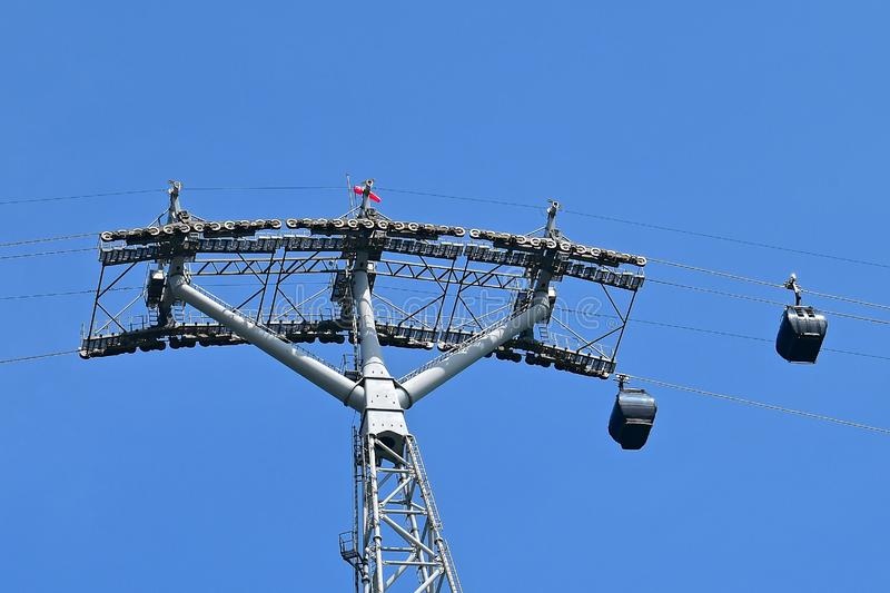 Cable Cars and pylon stock photos