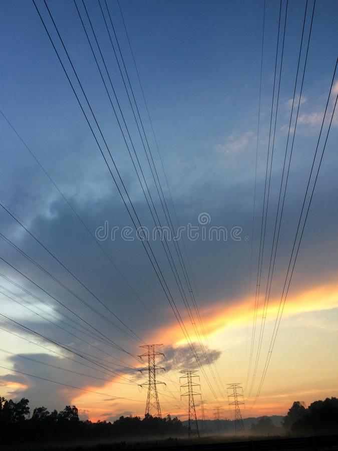 Cable, Clouds, Current stock images