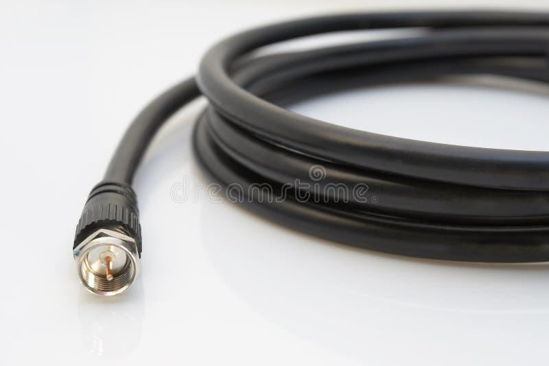 Cable coaxil de la TV fotografía de archivo