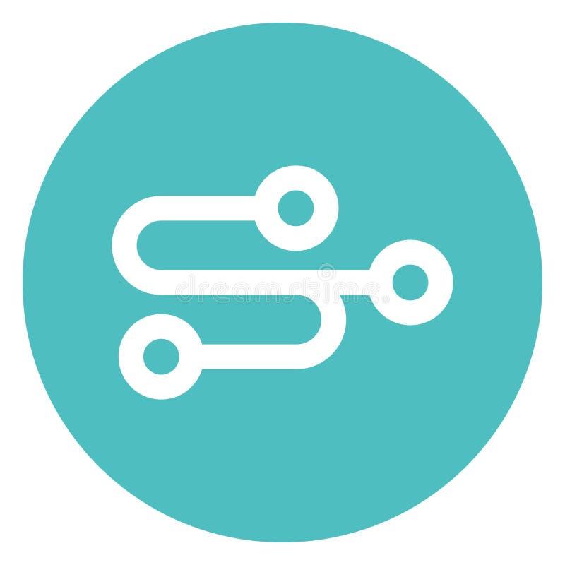 Cable, conexión Bold Vector Icon que se puede editar o modificar fácilmente stock de ilustración
