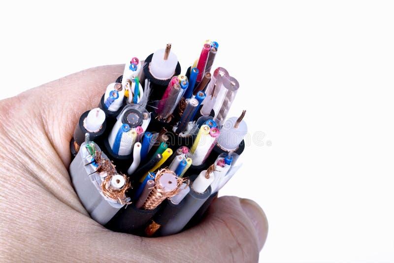 Cable de alambres foto de archivo libre de regalías