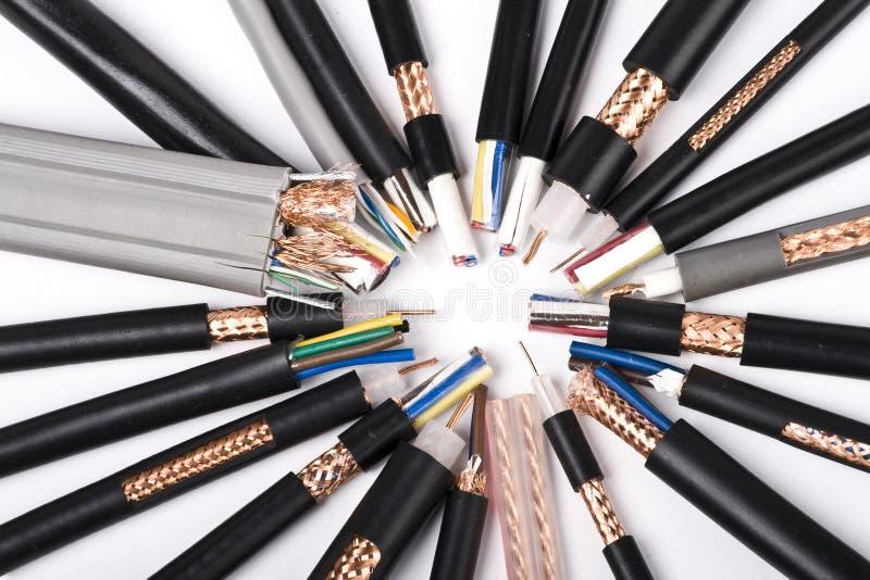 Cable de alambres imagenes de archivo