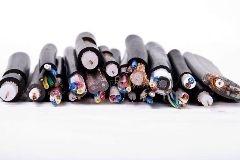 Cable de alambres imagen de archivo