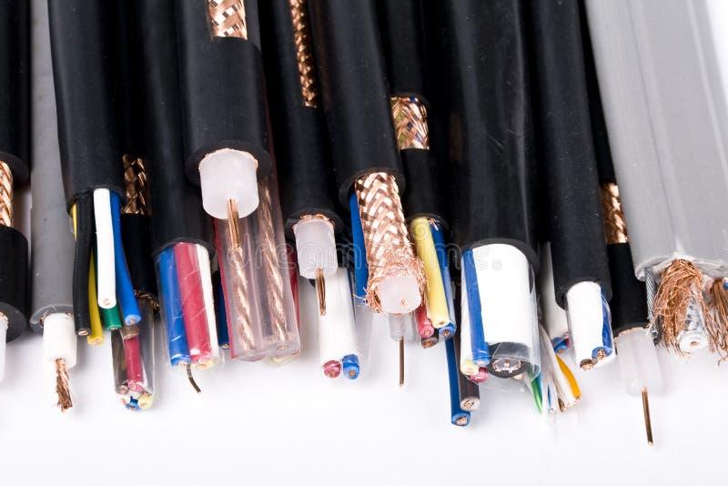 Cable de alambres fotografía de archivo libre de regalías