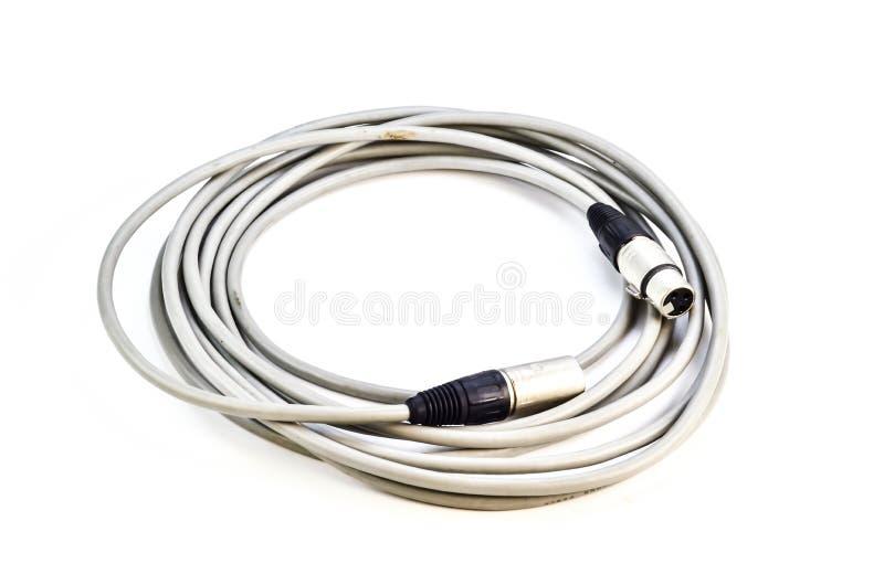 Cable de audio con los enchufes de XLR foto de archivo libre de regalías