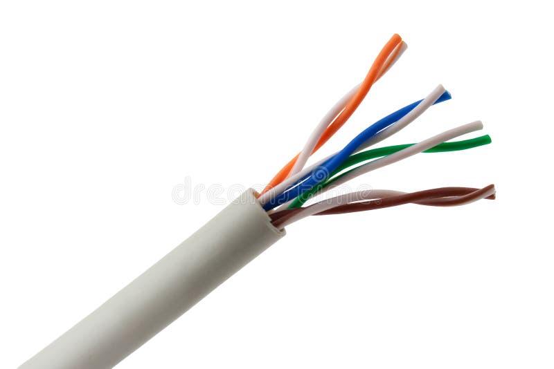Cable de Ethernet fotografía de archivo libre de regalías