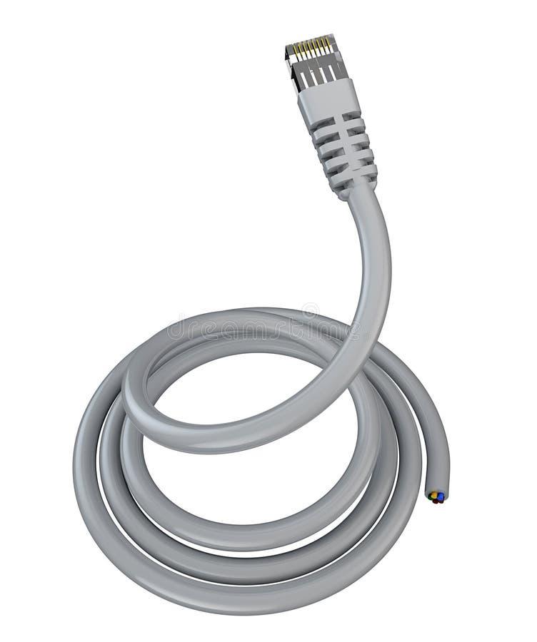 Cable de Ethernet rodado, conexión a internet, ancho de banda, de banda ancha libre illustration