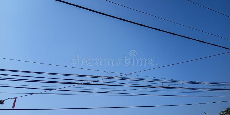 Cable de la central eléctrica imágenes de archivo libres de regalías
