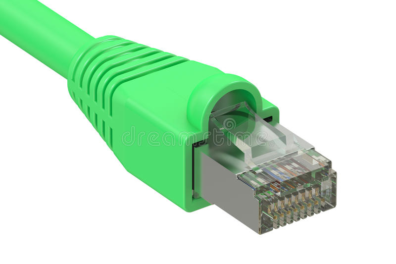 Cable de la red de ordenadores, representación 3D libre illustration
