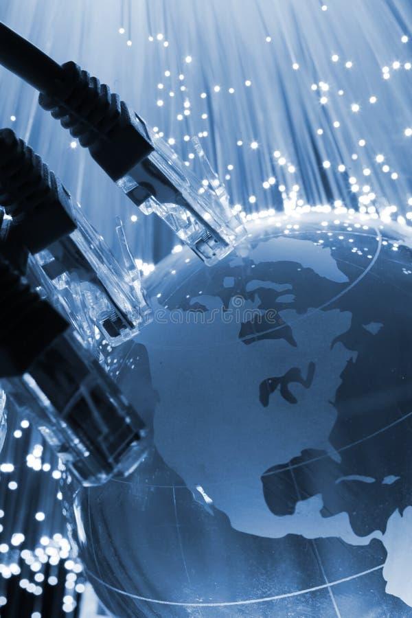 Cable de la red global fotografía de archivo