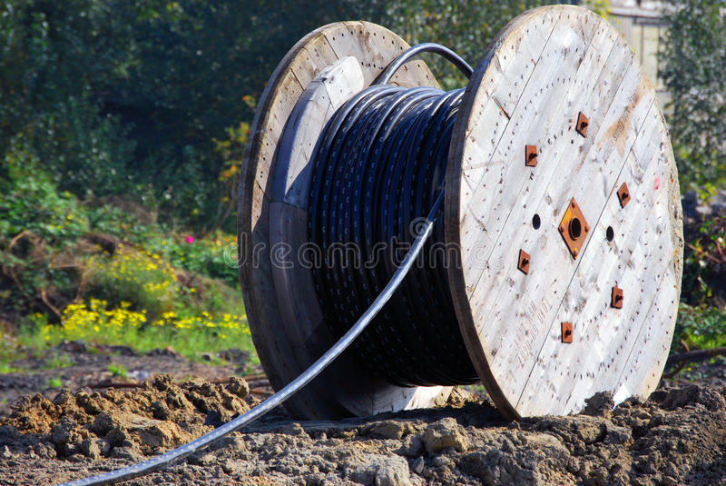 Cable de la telecomunicación fotografía de archivo