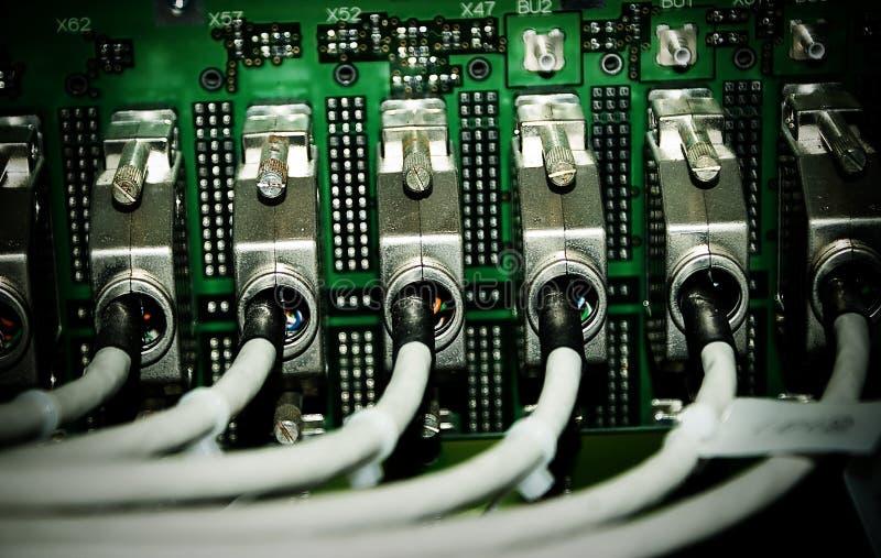Cable de la telecomunicación fotos de archivo
