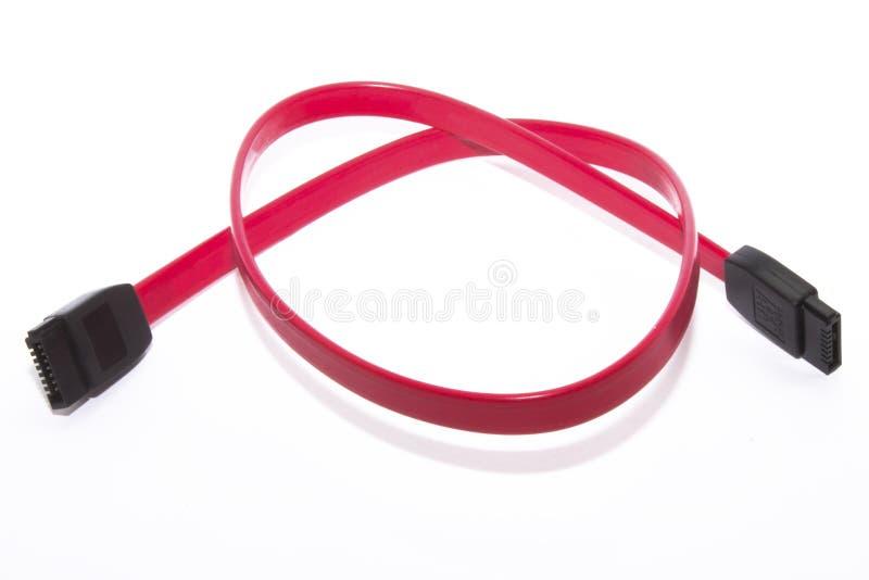 Cable de Serial ATA imagen de archivo libre de regalías