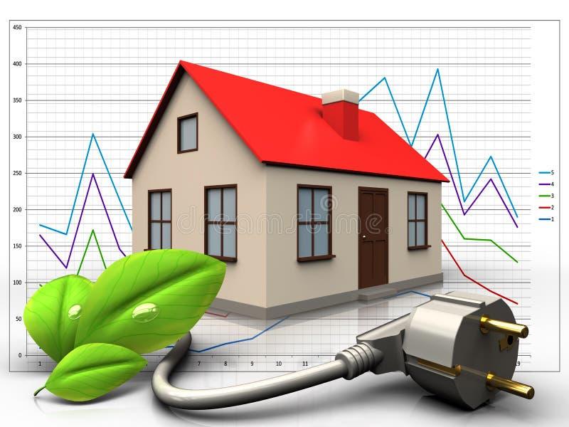 cable de transmisión del eco 3d sobre diagrama ilustración del vector