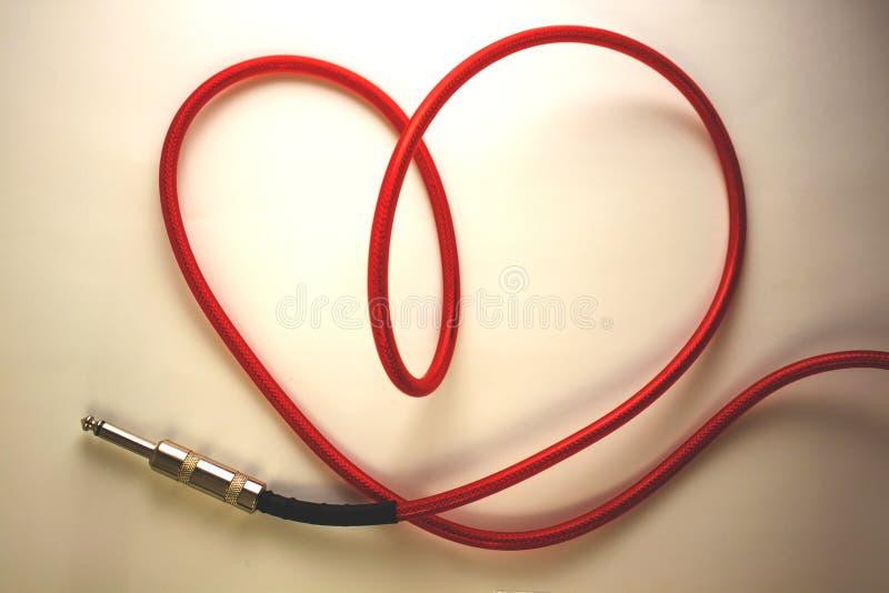 Cable del corazón fotografía de archivo