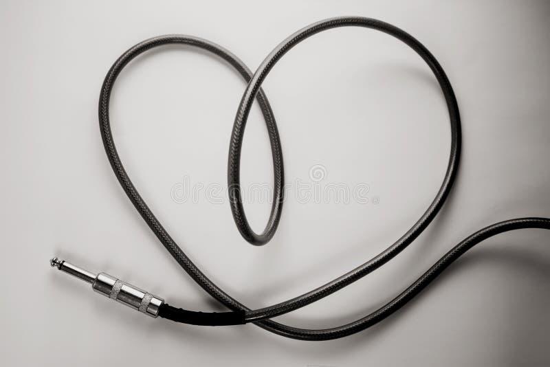 Cable del corazón fotos de archivo