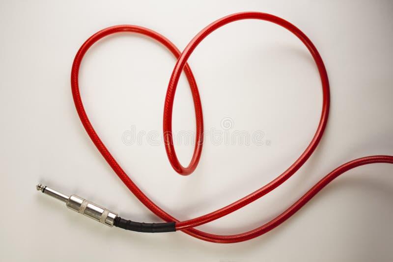 Cable del corazón fotografía de archivo libre de regalías