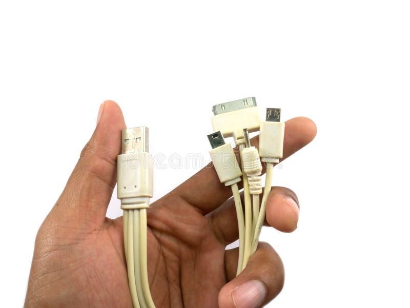 Cable 4 del Usb en uno imagen de archivo