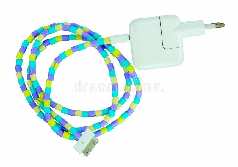 Cable eléctrico del adaptador y del cargador foto de archivo libre de regalías