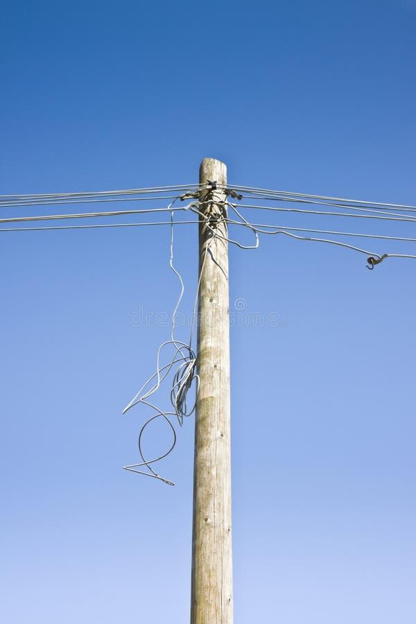Cable eléctrico desenchufado imagen de archivo