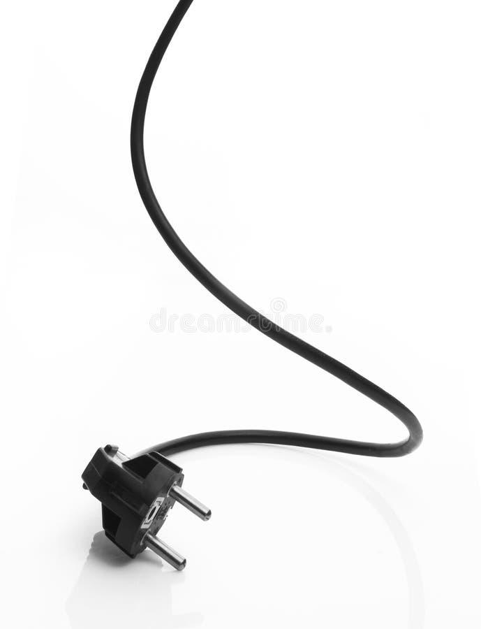 Cable eléctrico negro imágenes de archivo libres de regalías