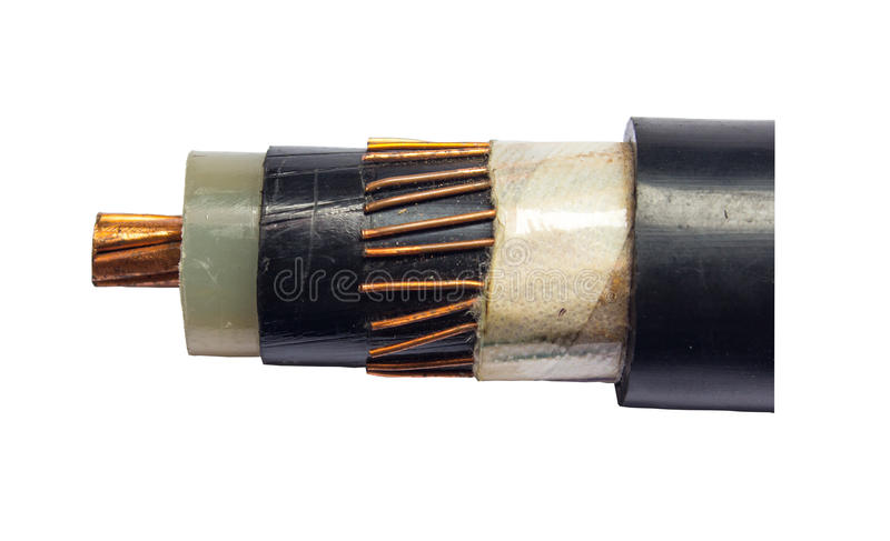 Cable electricity stock photography