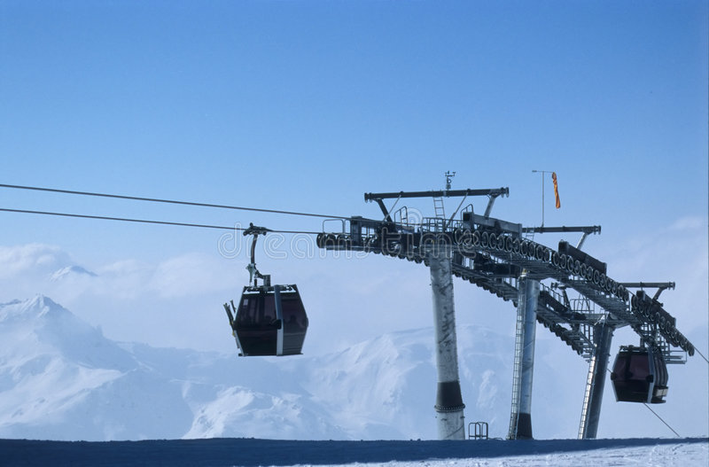 Download Cable Gondolas In Ziller Tal Stock Photo - Image: 90690