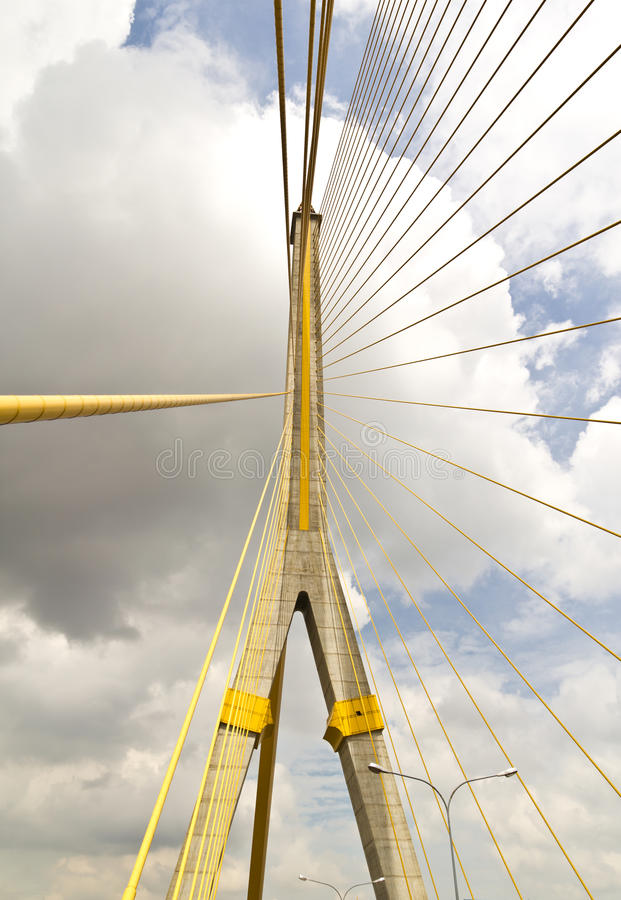 Cable Huge Bridge Royalty Free Stock Photography