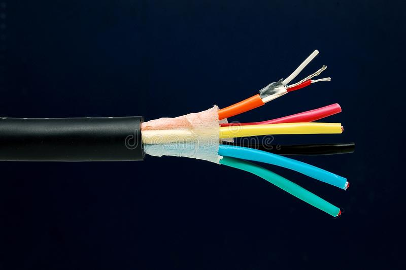Cable interior stock photo