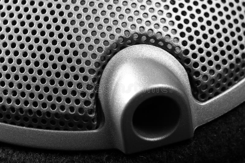 Cable jack of earphones close-up. Musical or industrial background royalty free stock photo