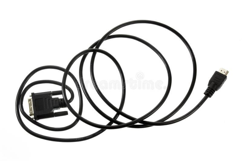 cable komputerowy white izolacji fotografia stock