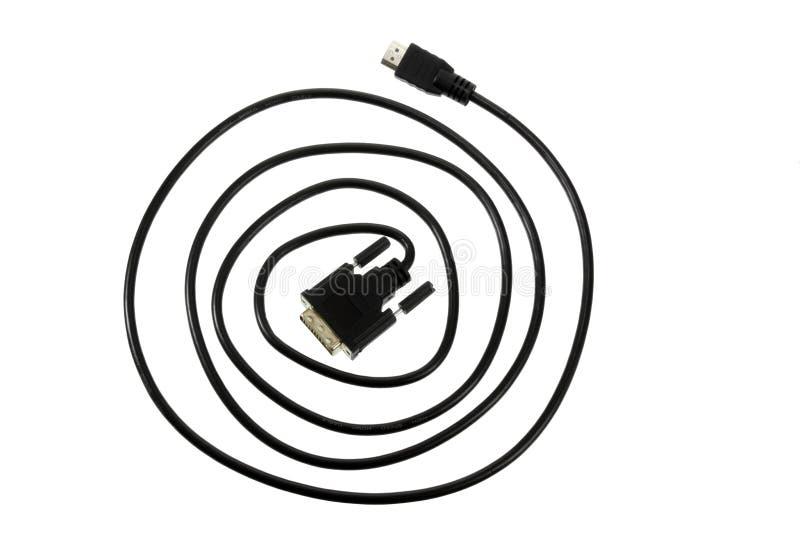 cable komputerowy white izolacji zdjęcia stock