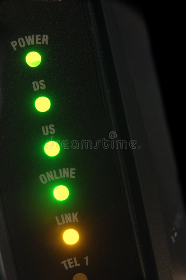 Cable modem royalty free stock photography