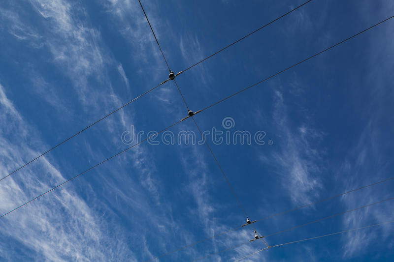 Cable Sky royalty free stock photo