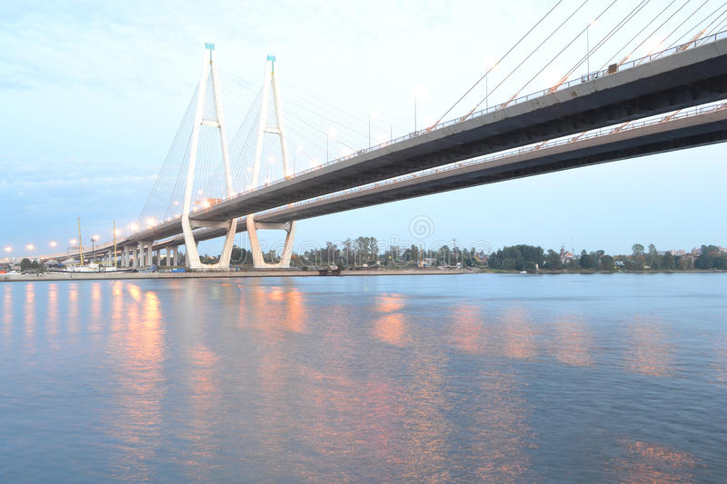 Download Cable Stayed Bridge At Evening Stock Photo - Image: 33559568