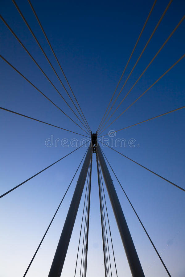 Cable supports of Bridge stock image