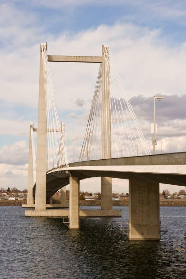 Cable Suspension Bridge Day Shot royalty free stock photos