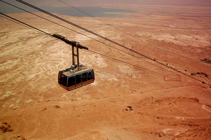 Cable to Masada stock images