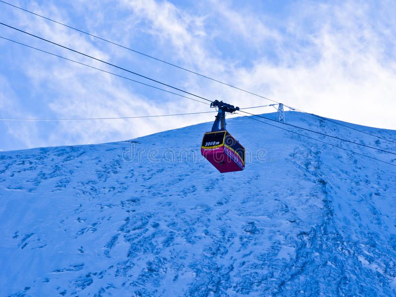 Download Cable Almost At The Top Of Kaprun Glacier Stock Photo - Image: 27583380
