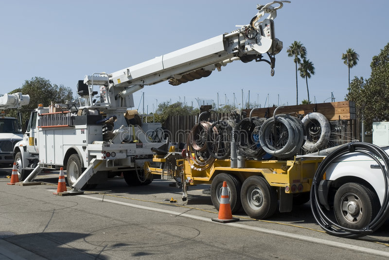 Download Cable Trucks Royalty Free Stock Photo - Image: 1412035