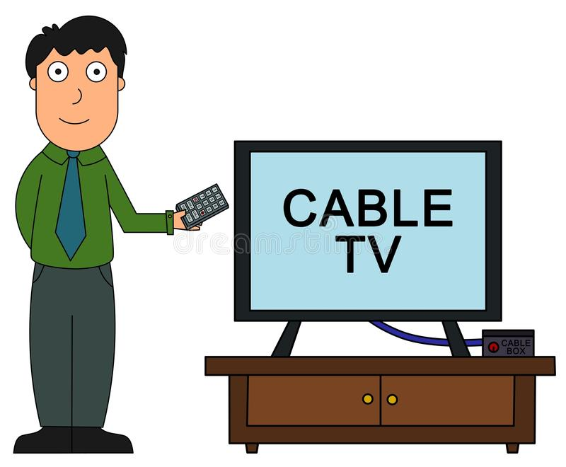 Cable tv vector illustration