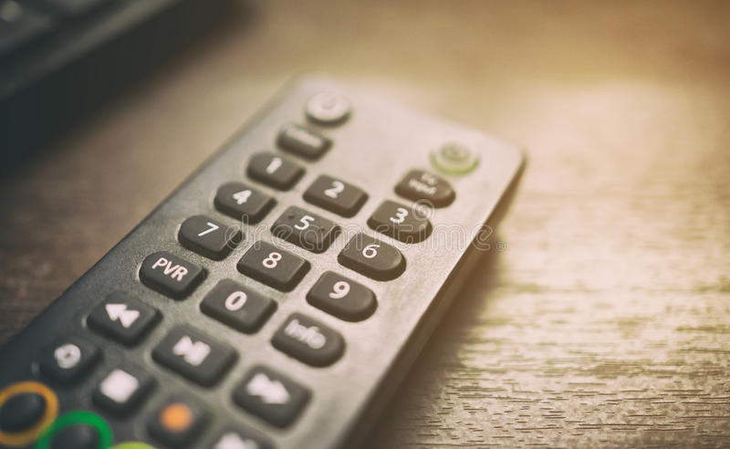 Cable TV satellite set top box remote controller. Unit royalty free stock photos