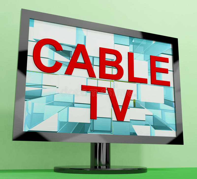 Cable Tv Showing Digital Media stock illustration