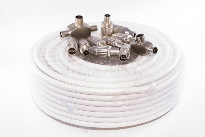 Cable y conectores foto de archivo libre de regalías