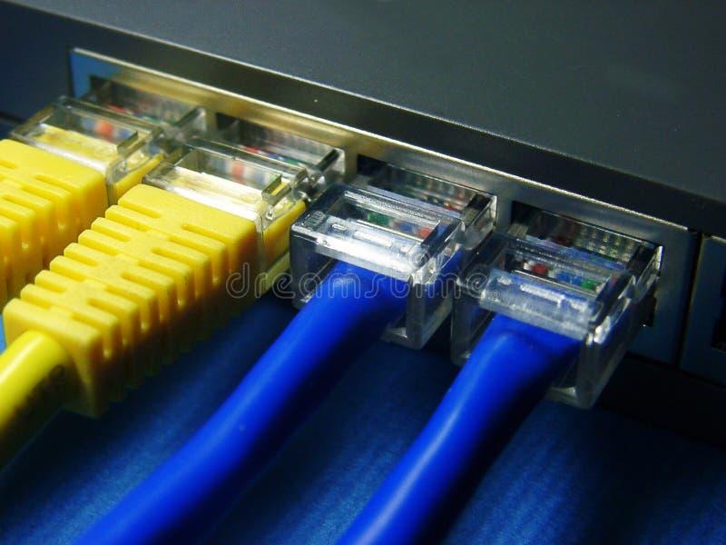 Cable y eje de la red. fotos de archivo libres de regalías