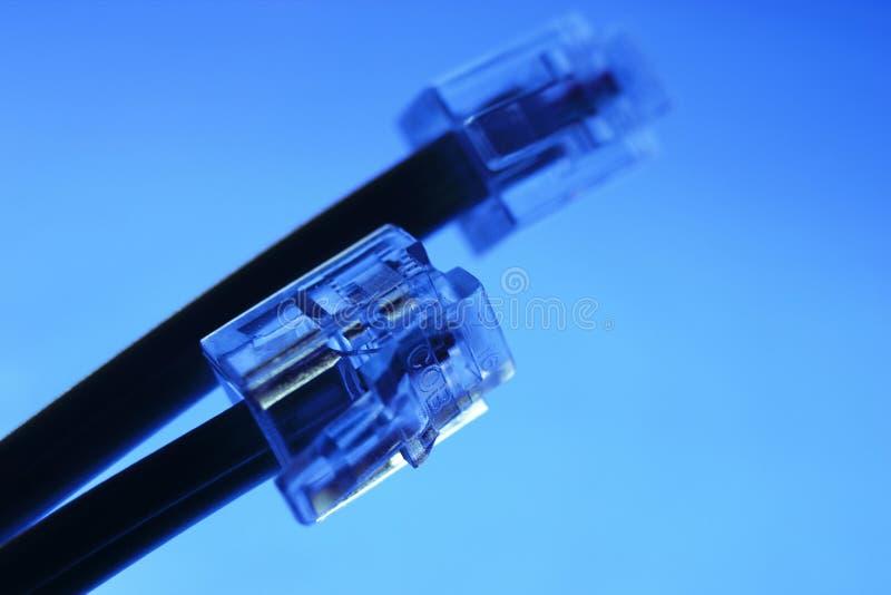 Cable y enchufe del teléfono fotos de archivo libres de regalías